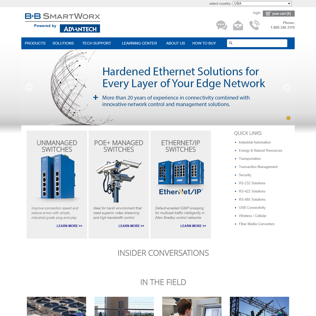 Industrial Networking Solutions - Serial, Ethernet & USB - B&B Electronics - B&B Electronics
