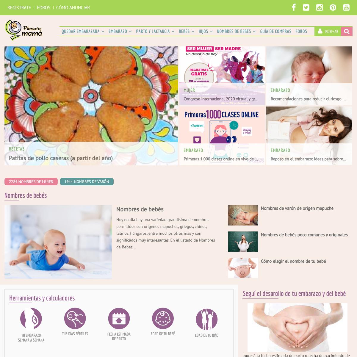 Nombres de bebes, calendario de embarazo , Bebe, Embarazo, Fertilidad, Embarazada - Planeta Mamá