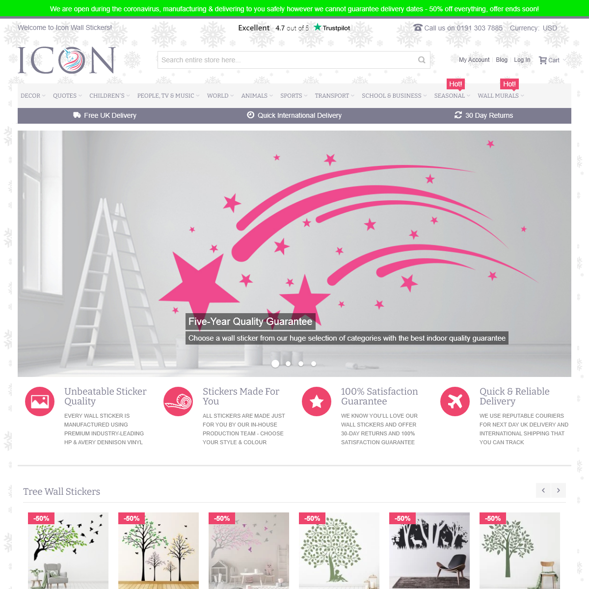 Wall Stickers & Decals - ICON