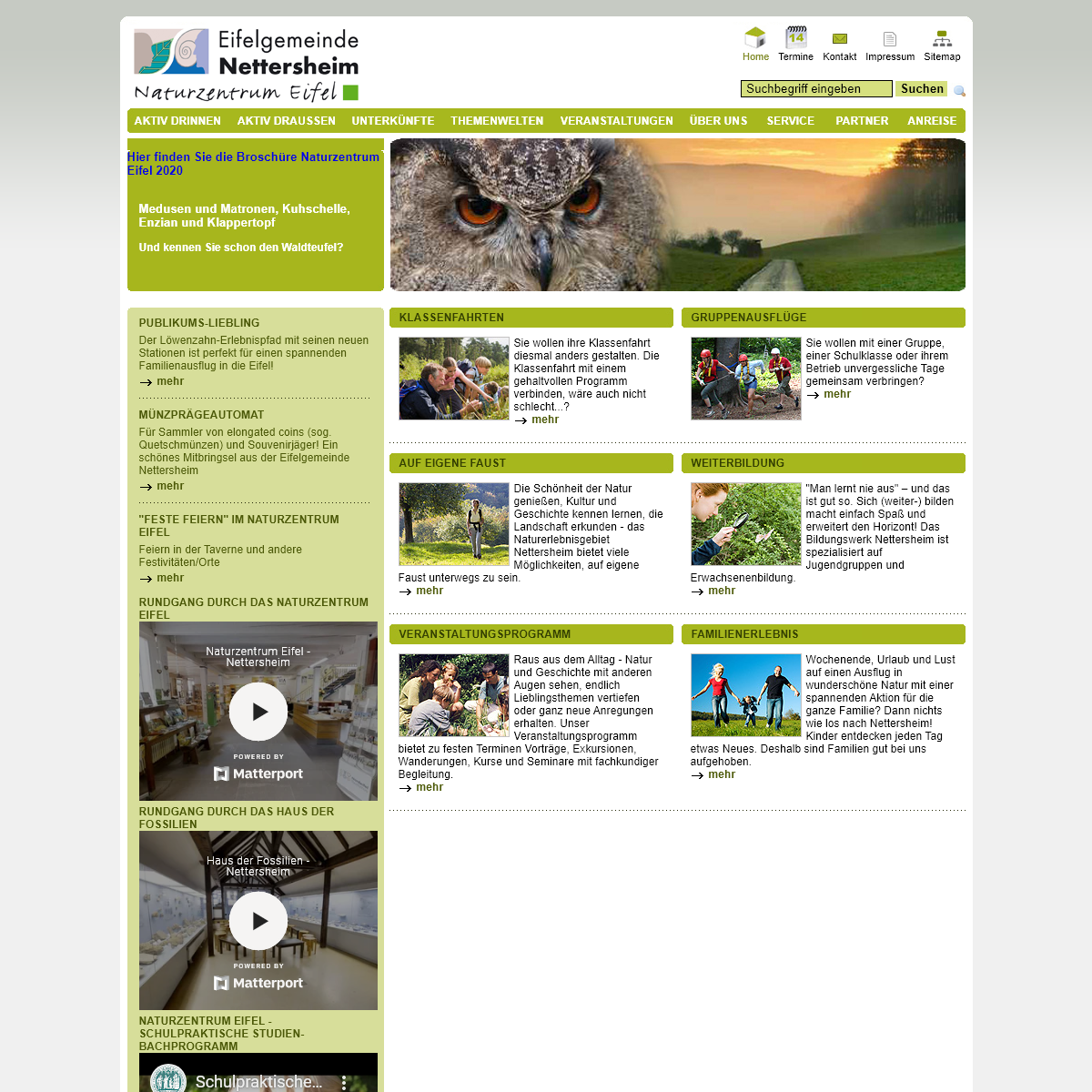 Naturzentrum Eifel in Nettersheim- Home