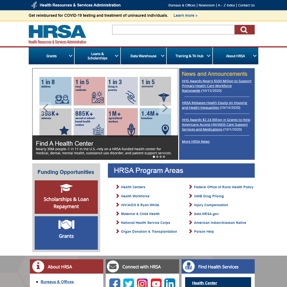 Official web site of the U.S. Health Resources & Services Administration -