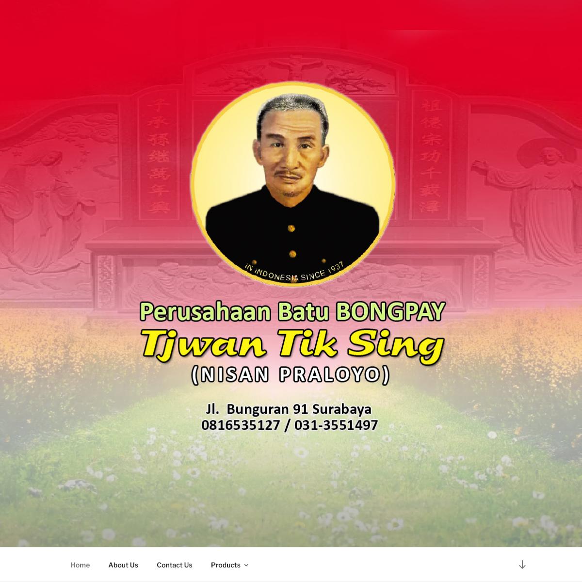 Tjwan Tik Sing – Seni Pahat Batu Bongpay