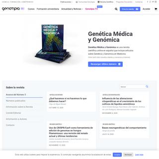 Revista científica de Genética Médica y Genómica - Genotipia