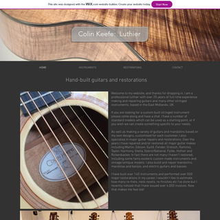 HOME - Colin Keefe Luthier