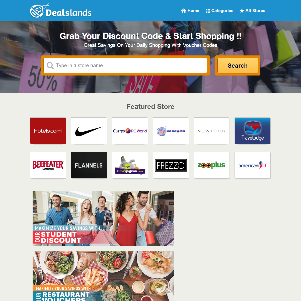 Exclusive Vouchers, Discount Promo Codes - DealsLands UK