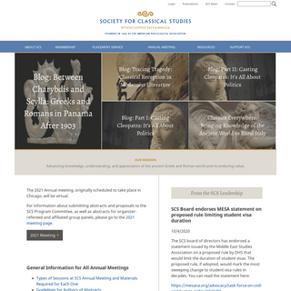 Home - Society for Classical Studies