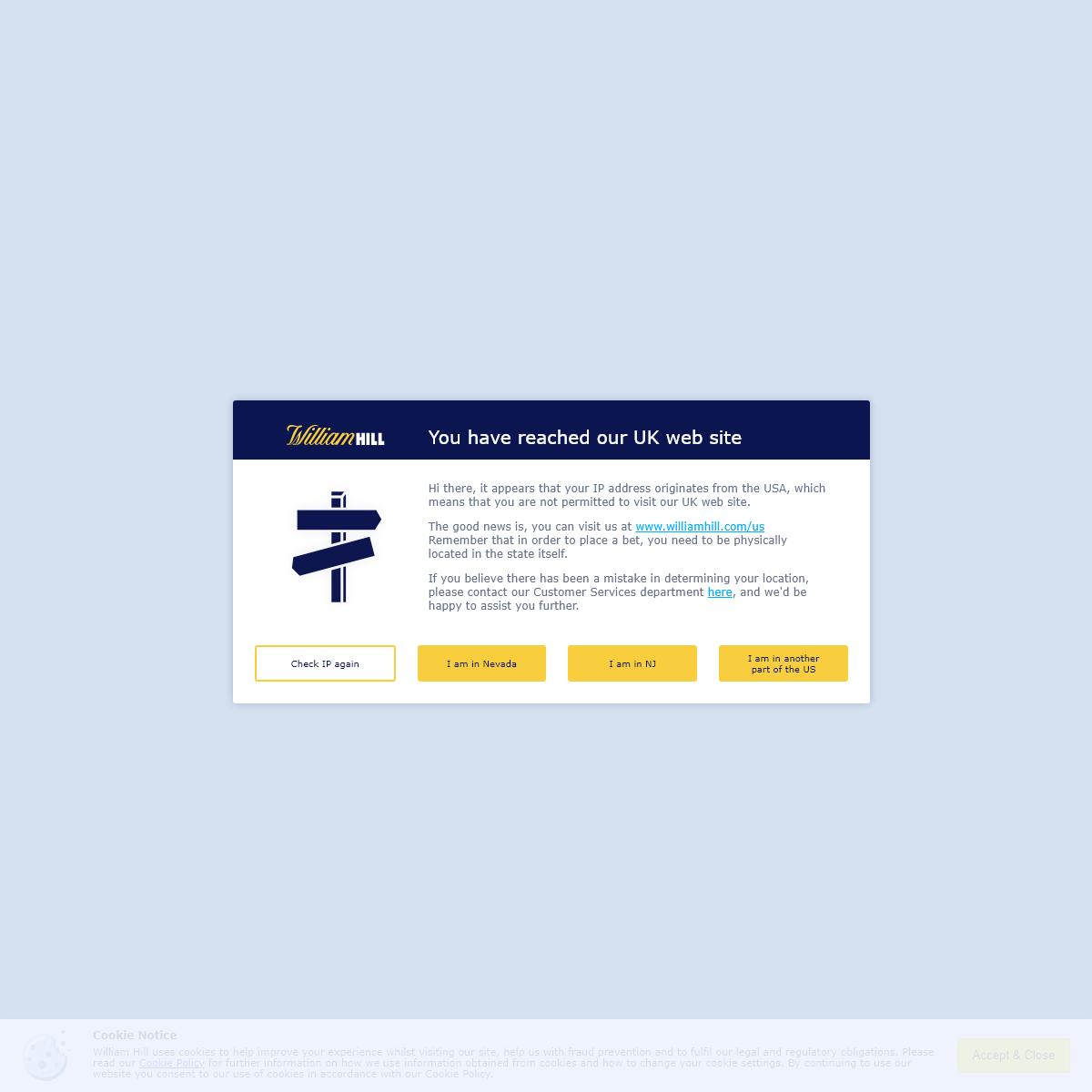 William Hill™ - Online Betting, Casino, Bingo & Games