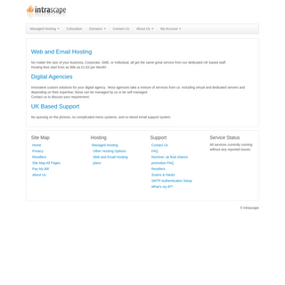Intrascape Hosting - Home - Secure hosting you can trust
