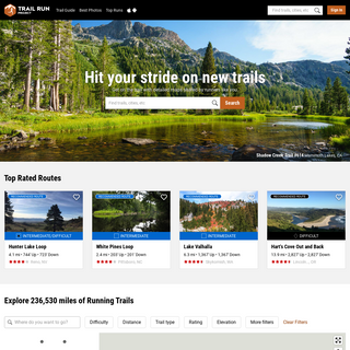Trail Run Project - Running Trail Maps