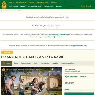 Ozark Folk Center State Park - Arkansas State Parks