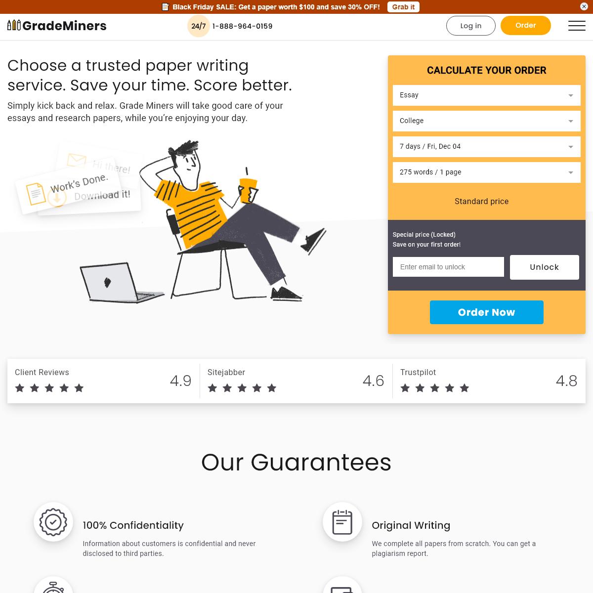 Essay Writer & Essay Writing Service - GradeMiners.com 💡