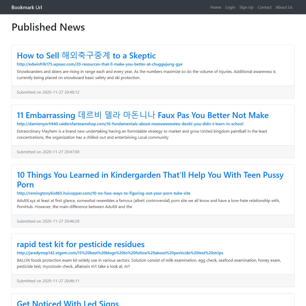 Published News - Bookmark Url