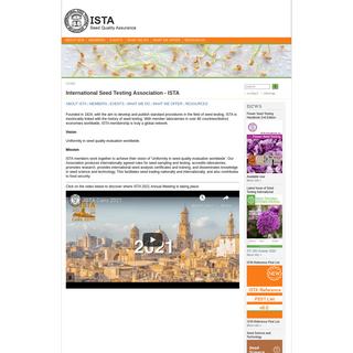 International Seed Testing Association - ISTA - ISTA Online - International Seed Testing Association