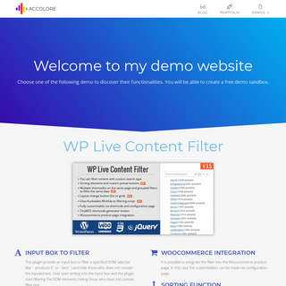 Accolore Demo Website