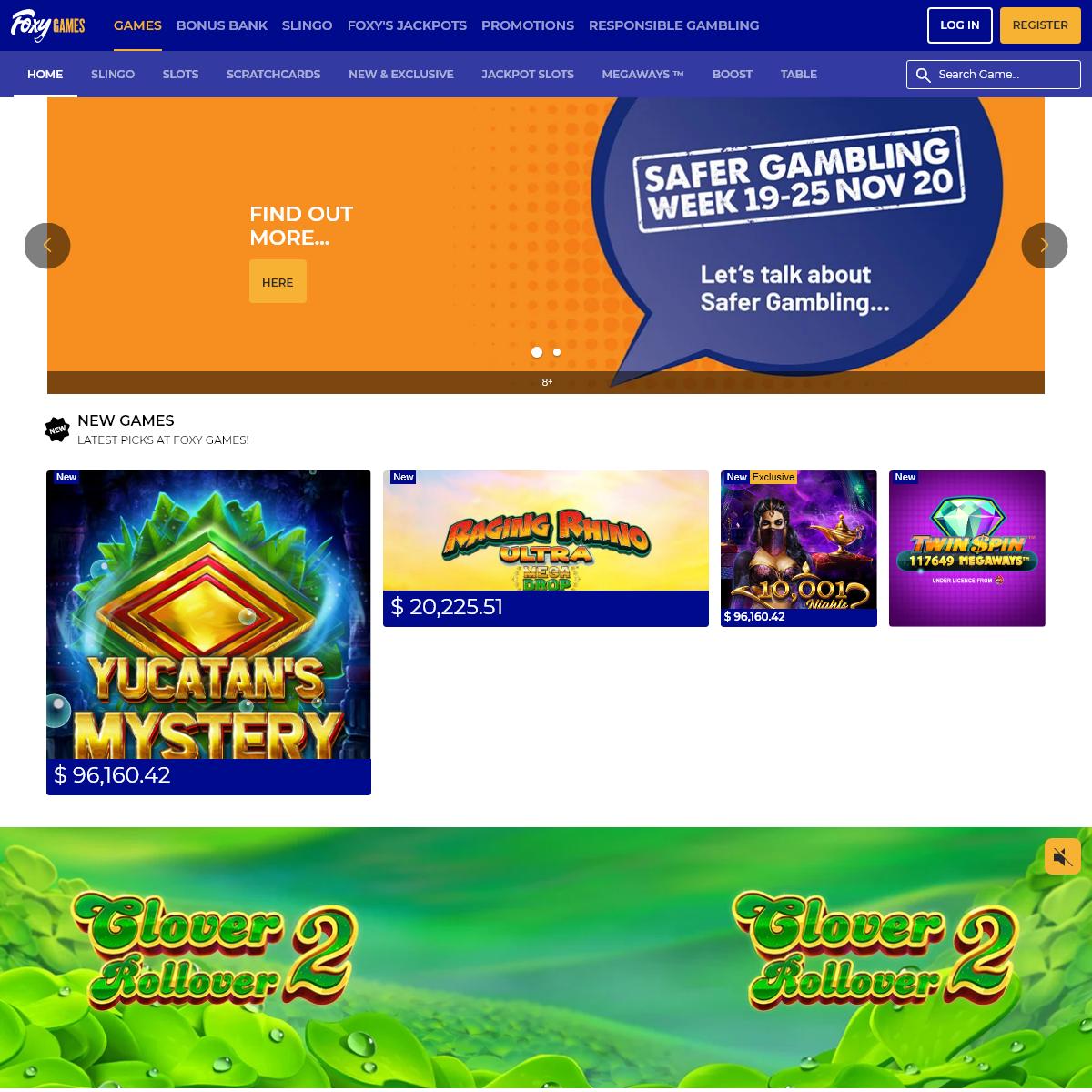🦊 Slingo - Play Slingo Games Online - UK Sites - Foxy Games