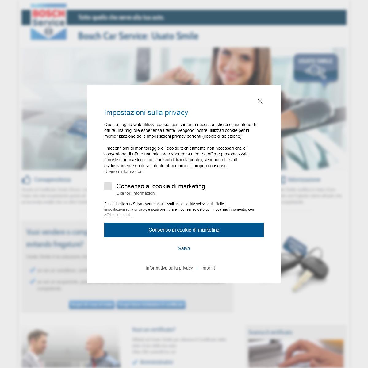 Usato Smile - Certificazione auto usate da Bosch Car Service.