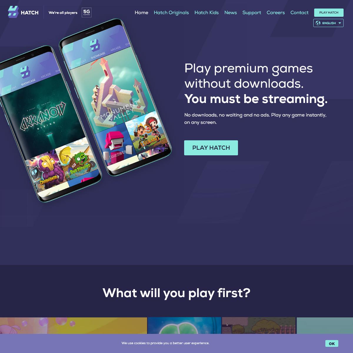 Hatch - Stream premium mobile games - No downloads required
