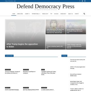 Defend Democracy Press - Defending Democracy in Greece and Europe