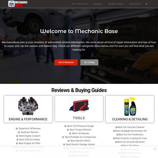 Mechanic Base - Automotive & Car Information & Reviews