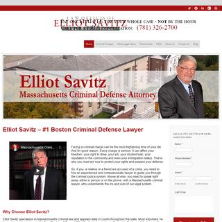 Attorney E.Savitz- A Criminal Defense Lawyer in Boston MassachusettsLaw Office of Elliot Savitz