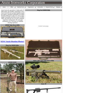 Anzio Ironworks specializes in high quality 50 BMG Rifles and Ammunition.