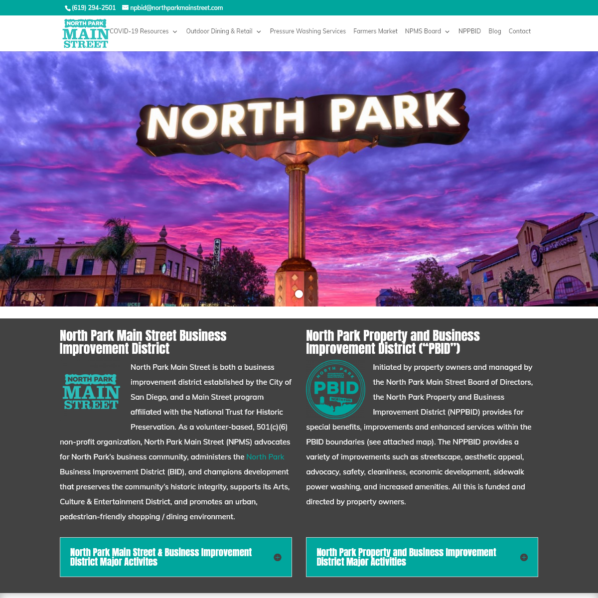 North Park Main Street - Offical Homepage