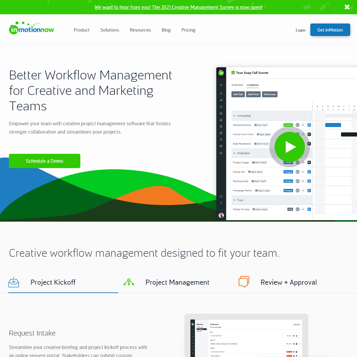 Creative Project Management Software - inMotionNow - Workflow...