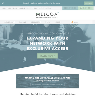 WELCOA - Workplace Wellness Certifications, Trainings and Resources
