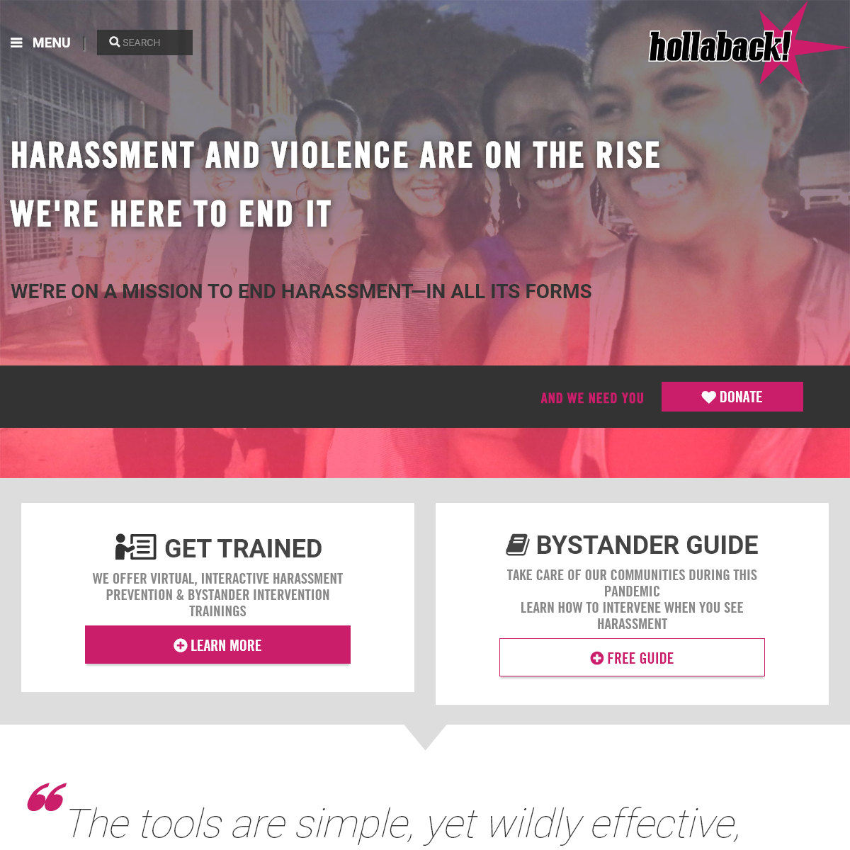 Hollaback! Together We Have the Power to End Harassment