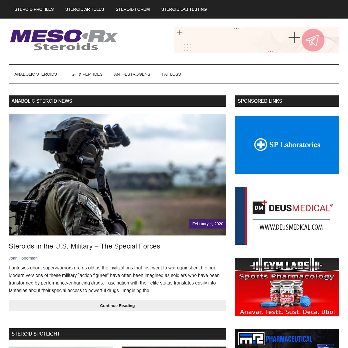 MESO-Rx Anabolic Steroids Info