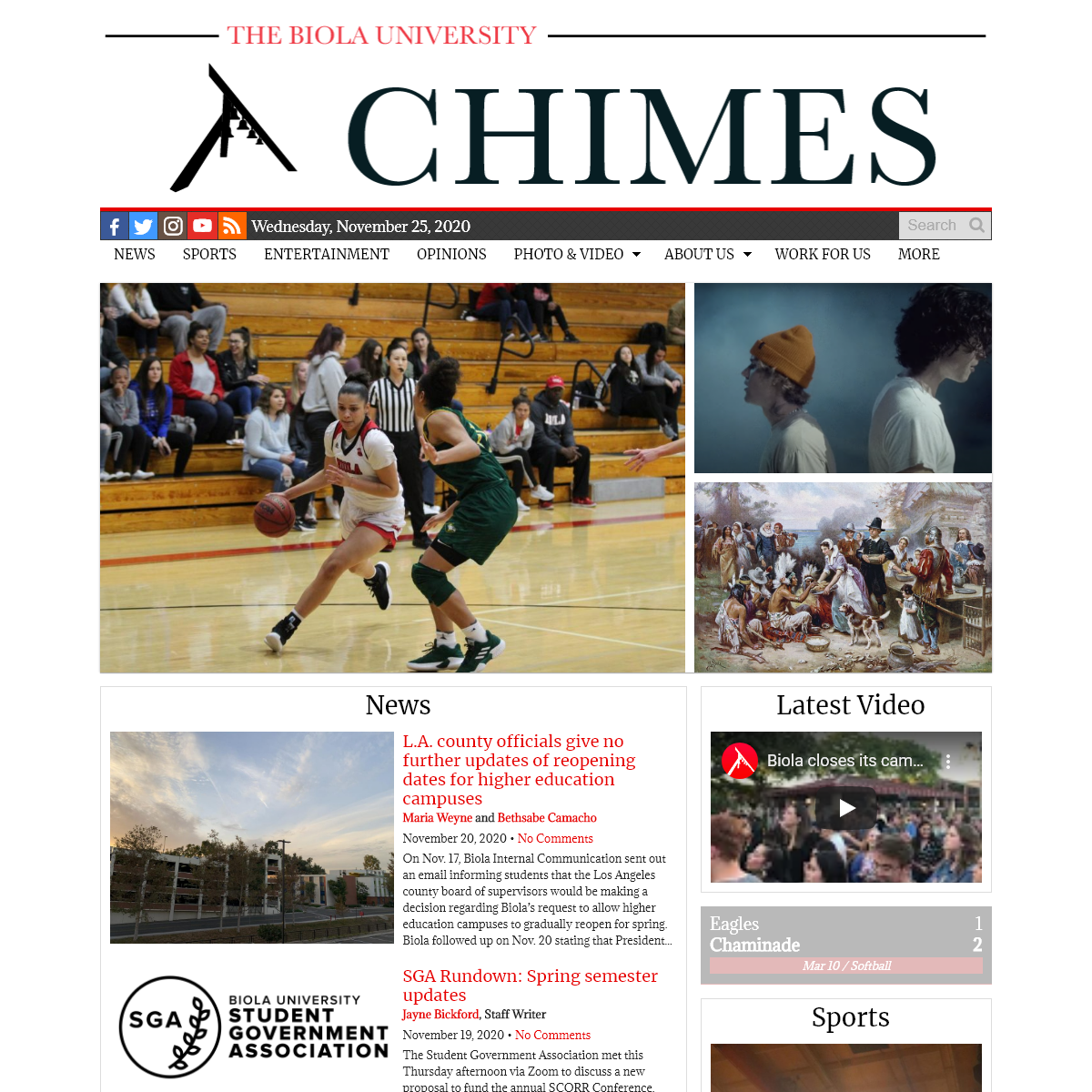 The Chimes - The Student News Site of Biola University