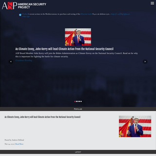 American Security Project - National Security & Strategic Issues American Security Project