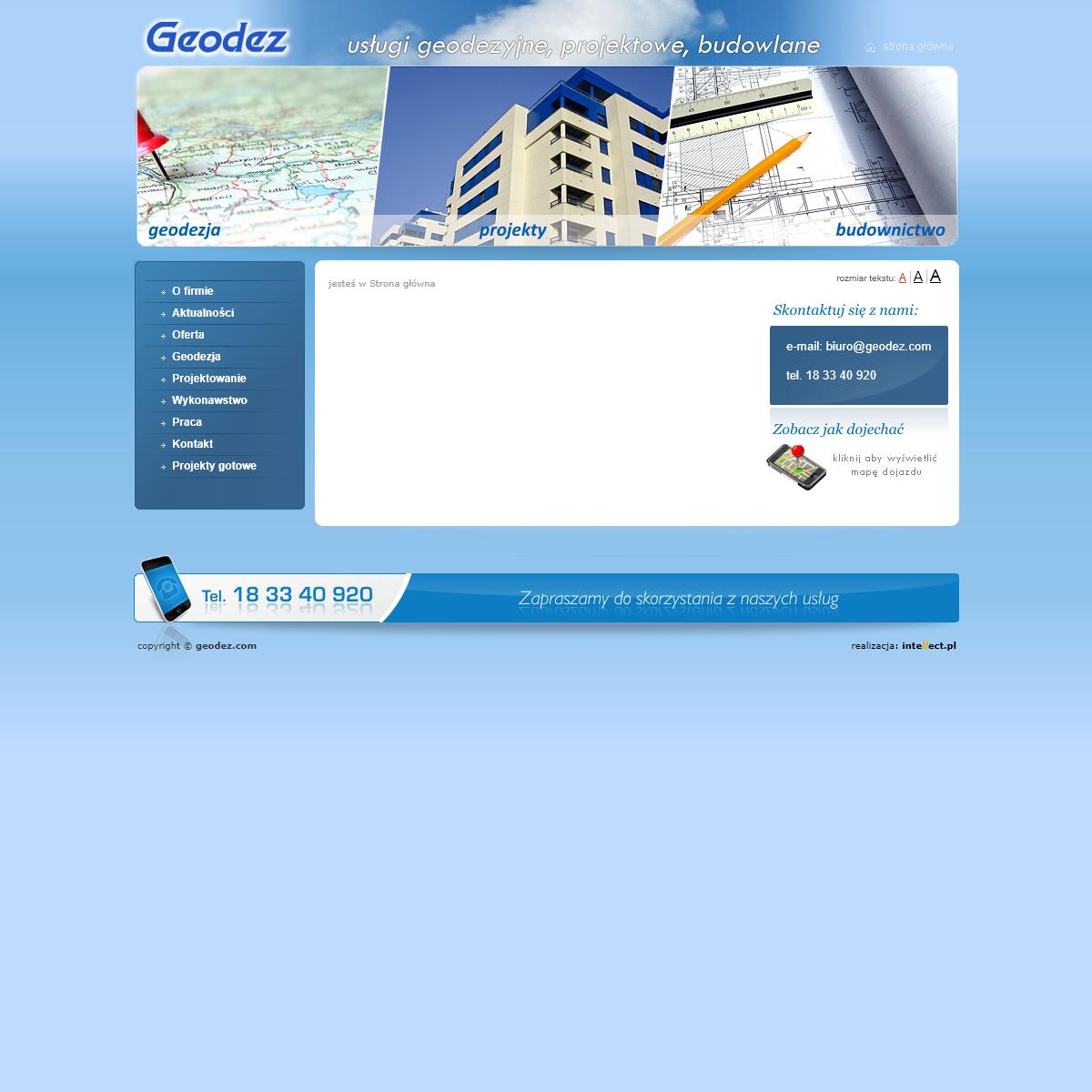Geodez - usługi geodezyjne, projektowe, budowlane