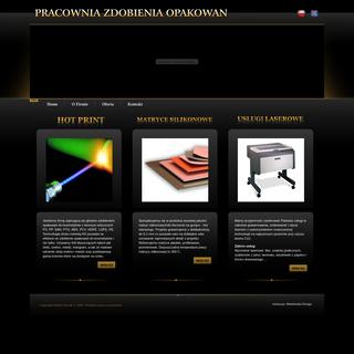 Pracownia Zdobienia Opakowa-- - Hot stamping - Hot print - Matryce silikonowe - Grawerowanie laserem
