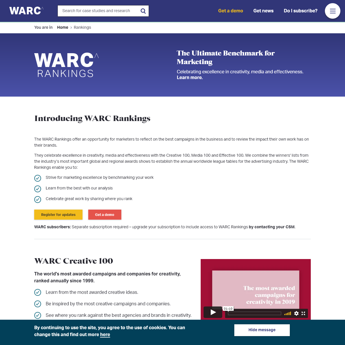 Rankings - WARC
