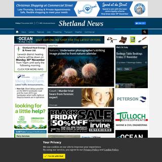 Shetland News - Shetland`s internet-only daily newspaper.