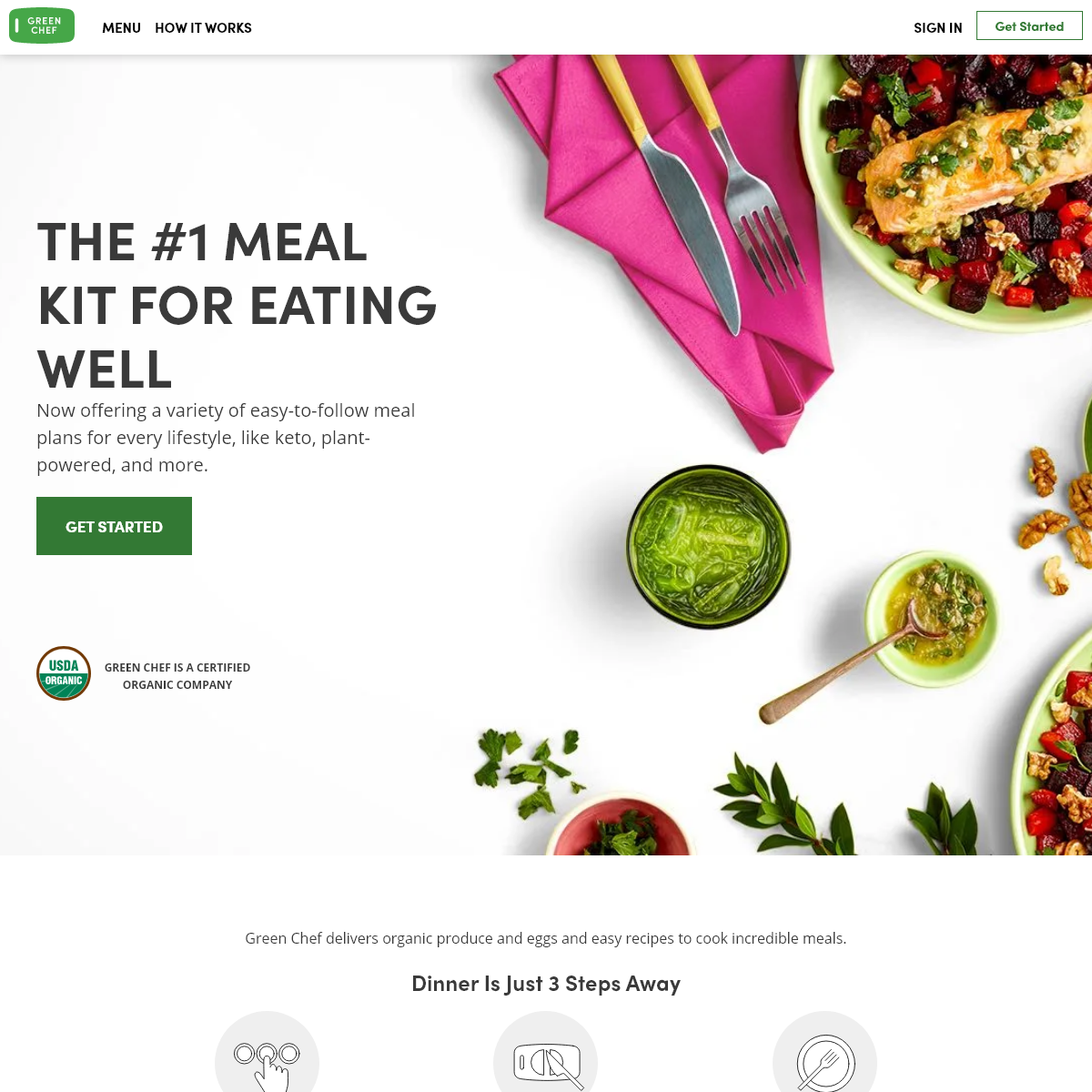 Healthy and Organic Meal Kit Delivery Service - Green Chef