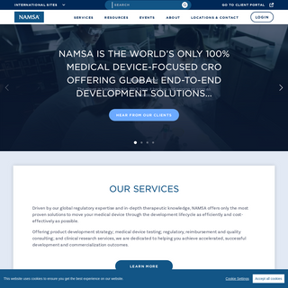 NAMSA - Contract Research Organization for Medical Devices and IVDs