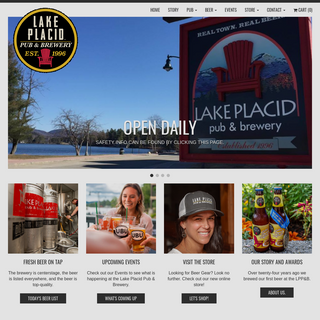 Real Town. Real Beer. - Lake Placid Pub & Brewery