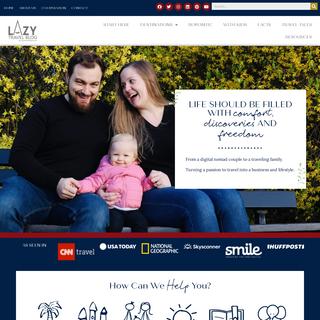 Lazy Travel Blog Homepage