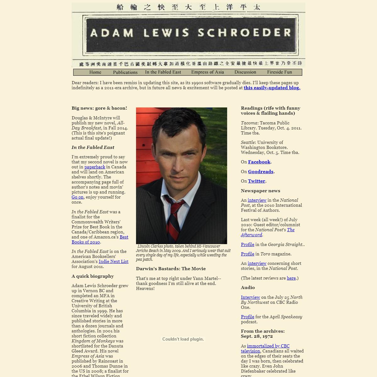 Adam Lewis Schroeder