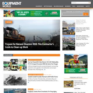 Equipment World - Construction Equipment, News & Information - Heavy Construction Equipment