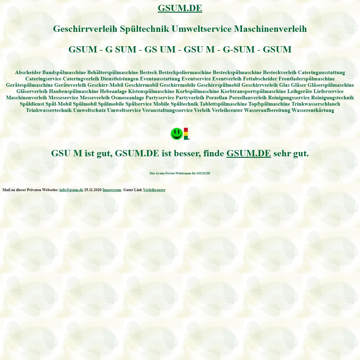 gsum Geschirrverleih Spültechnik Umweltservice Maschinenverleih Spülmobil Verleih Geschirrmobil Mieten