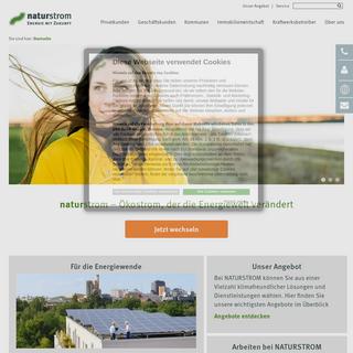 Ökostromanbieter NATURSTROM - 100- erneuerbare Energien von NATURSTROM