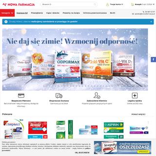 Apteka Internetowa Nowa Farmacja - Apteka online - leki bez recepty, kosmetyki - Wysyłamy Zdrowie!