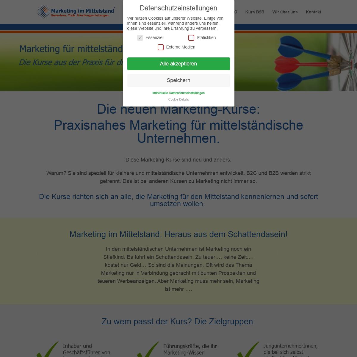 Start - Marketing im Mittelstand