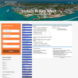 Key West City, Fl. Hotels in Key West