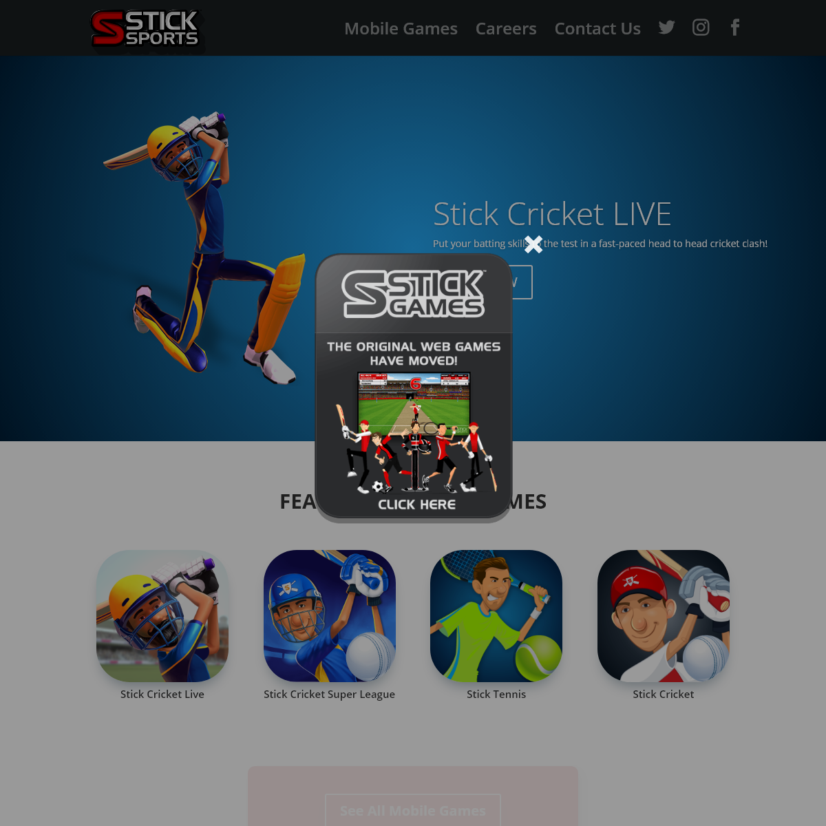 Stick Sports - The home of Stick Cricket and Stick Tennis - Stick Sports