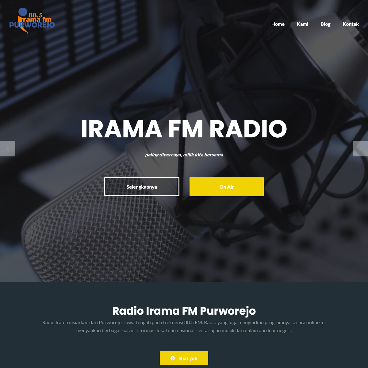 Irama FM Purworejo – Paling dipercaya, milik kita bersama