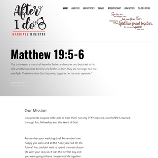 After I Do – Marriage Ministry